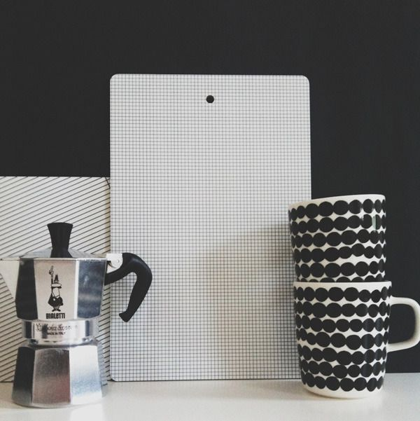 Via Hviit | Black and White | Marimekko | Bialetti
