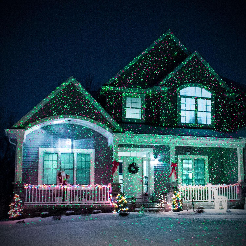 Amazon Com Star Shower As Seen On Tv Static Laser Lights Star Projector Patio Lawn Garden クリスマス 素材