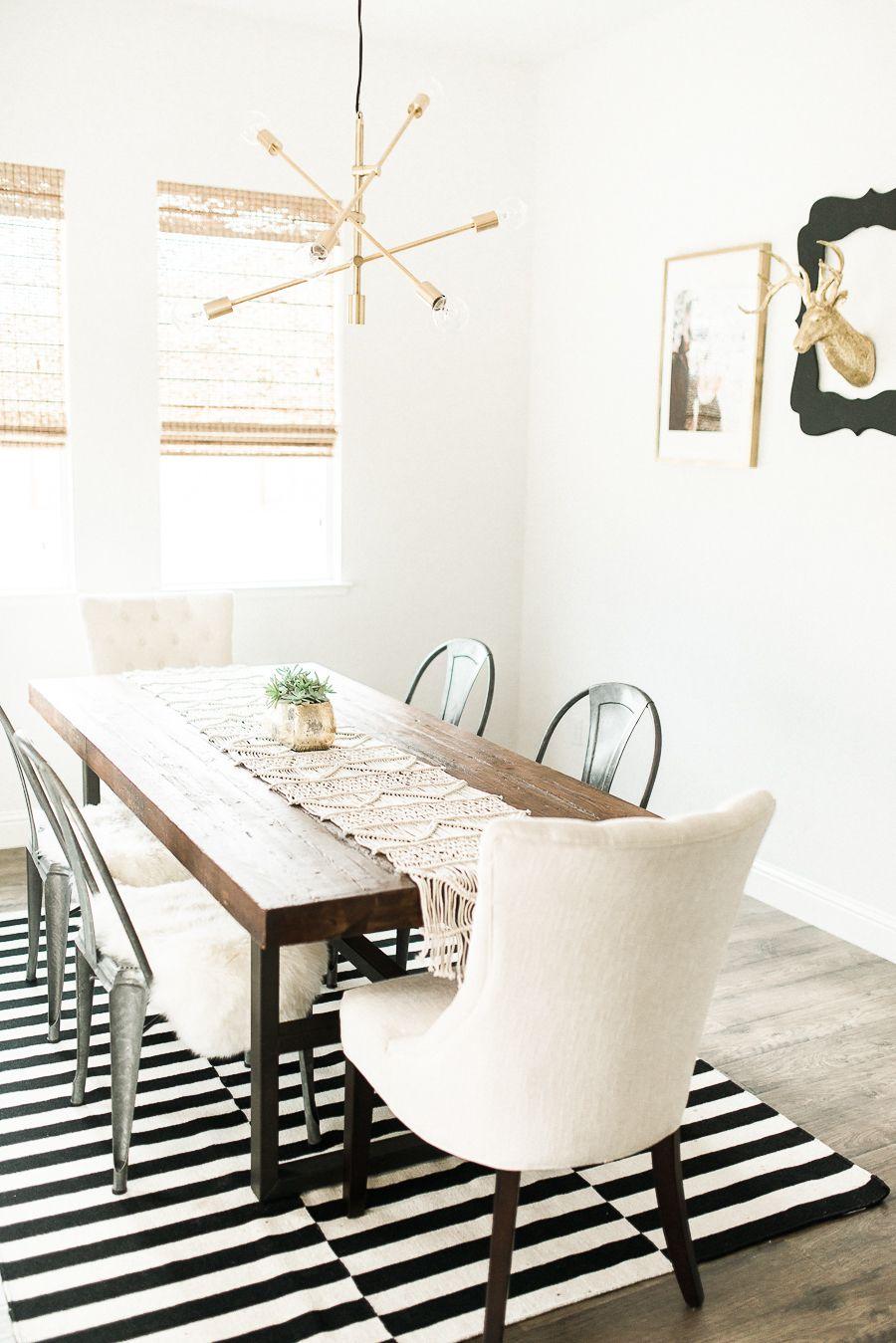 Modern Bohemian California Home Tour Dining Rooms Ikea