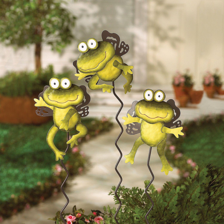 Angel Frog Yard Stakes - TerrysVillage.com | RANAS | Pinterest ...