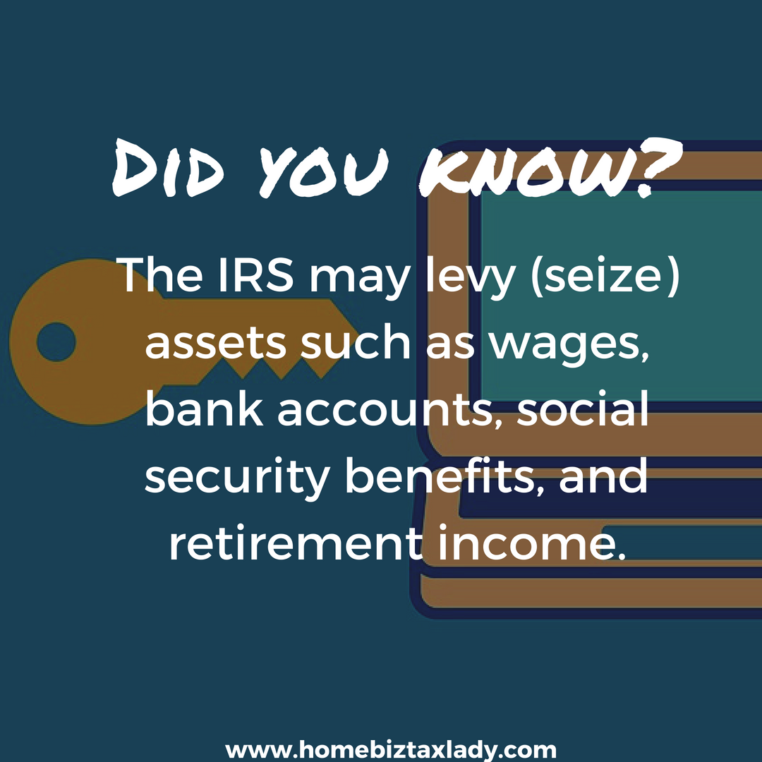 The Irs May Levy Seize Assets Such As Wages Bank