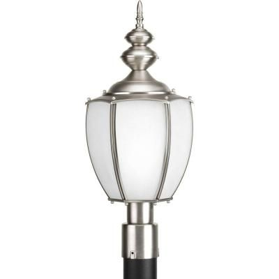 Progress Lighting Roman Coach Collection 1 Light Brushed Nickel Fluorescent Post Lantern P6413 09 The Home De Lantern Post Lamp Post Lights Progress Lighting