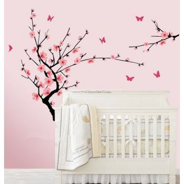 Peach Blossom Branch Floral Wall Decals Flower Wall Decals - Wall decals  ikea