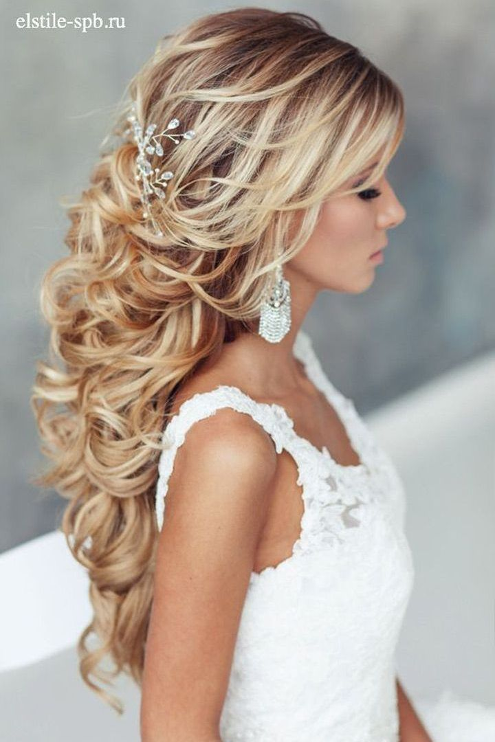 Curly Wedding Hairstyles For Long Hair With Veil Addicfashion