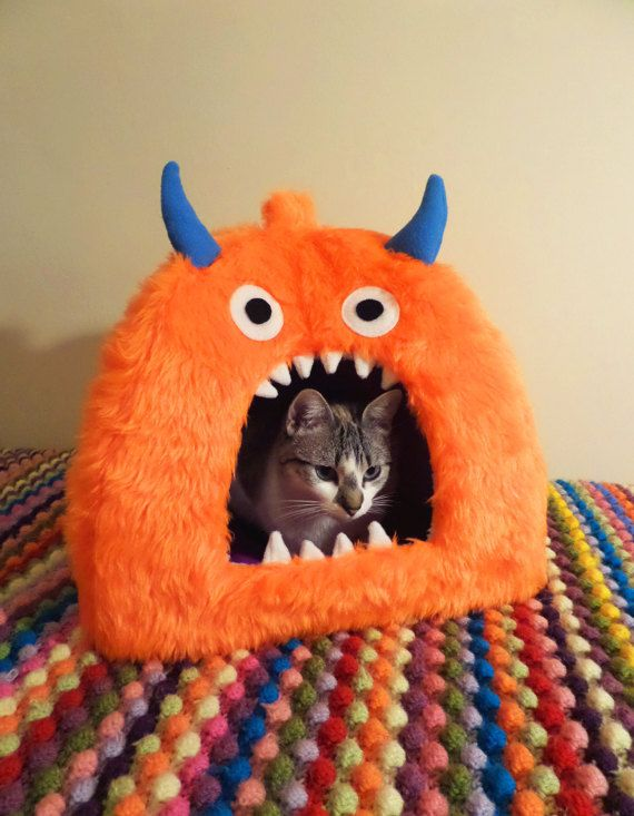 aa083453cb06 Monster Pet Bed Cave / Igloo Cat / Small Dog by AnticlockwiseCo ...