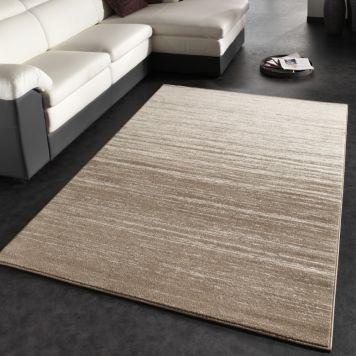 Moderner Designer Teppich Kurzflor Flachflor Velours Farbverlauf In - wohnzimmer creme grun