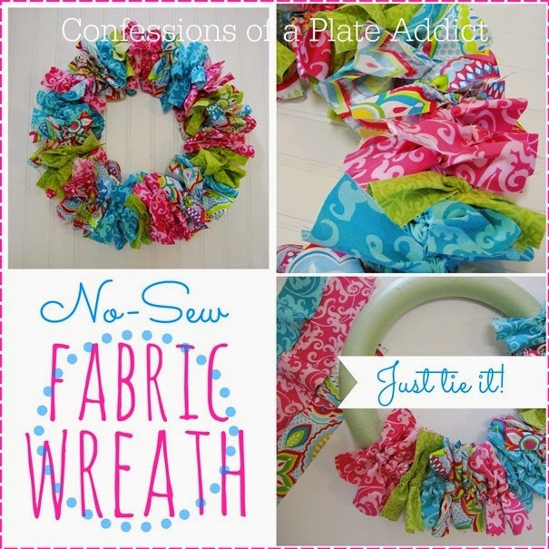 Easy No-Sew Fabric Wreath -   19 fabric crafts for kids no sew ideas