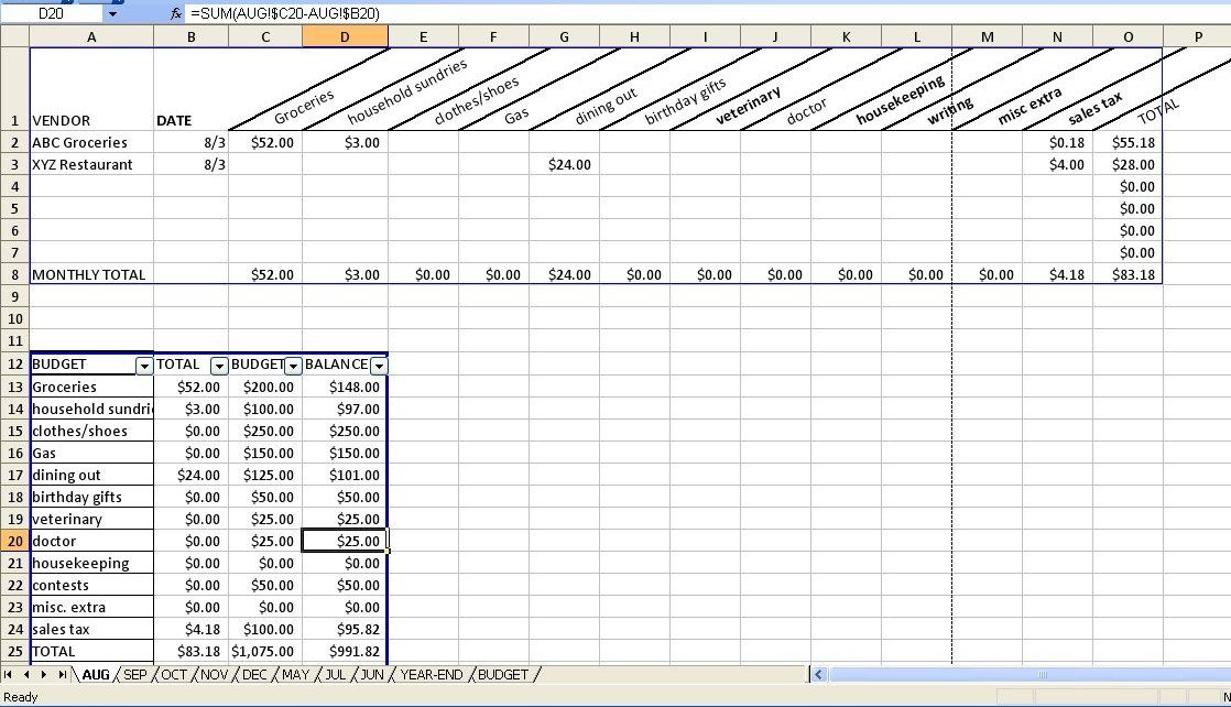 Hallee the Homemaker Search results for budget spreadsheet - budget tracking template