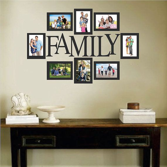 Family Picture Frame Wall Decal Photo Wall Decal Removable Family