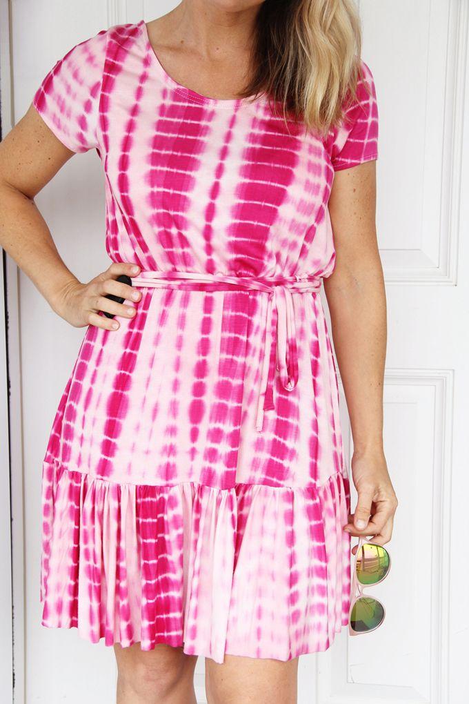 31d19015b21 DIY  elastic waist ruffle dress