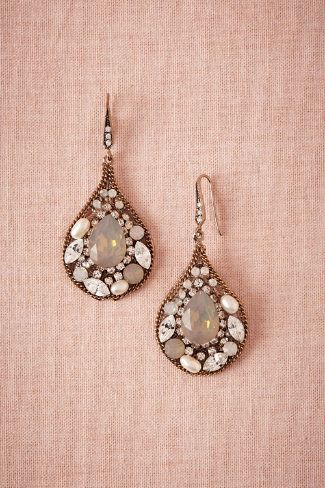 Mosaique Earrings from BHLDN $120. Pair with the drapey head piece