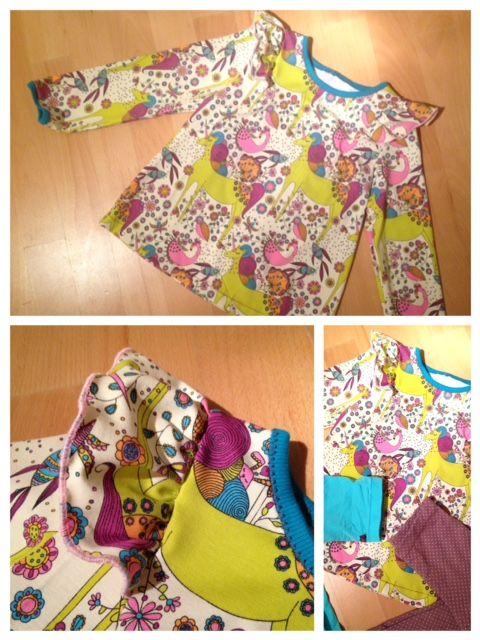 Einhorn Shirt mit Volants für Mädchen (Schnittmuster Ottobre design ...