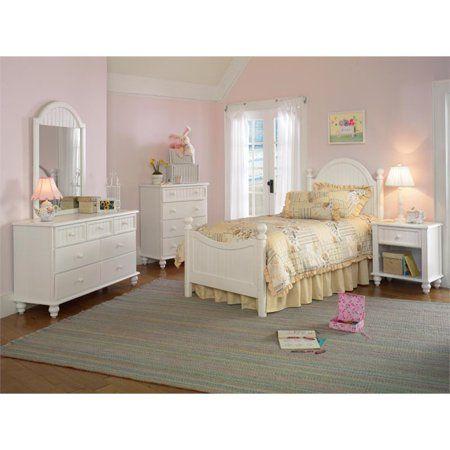 Hillsdale Westfield 4 Piece Full Bedroom Set in Off White