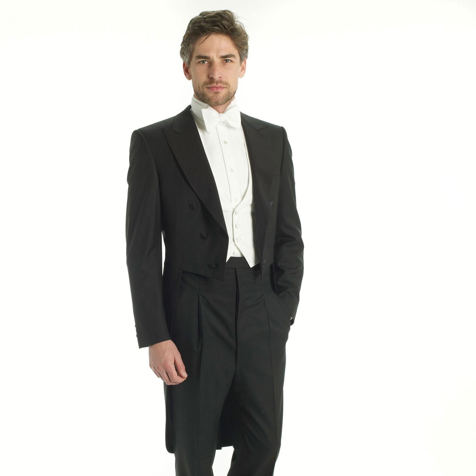 Buy 1 Get 1 for $ Suits and Separates Packages: Buy 1 Suit or Separates Package, get one Suit or Separates Package for $ Select styles only. Excludes Custom, gift cards and clearance. Particularly formal occasions may require white tie dress, which means you need formal tails paired with a white bow tie and vest.