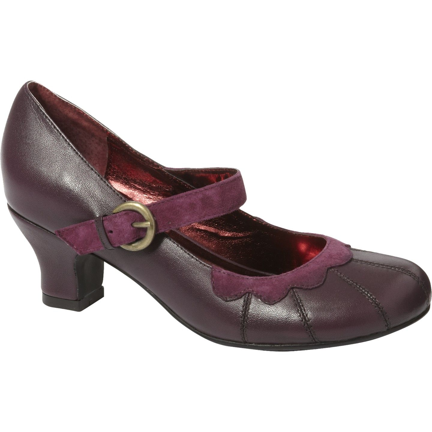 d6d7d48be536 Gayle Hush Puppies low heel shoes (purple)