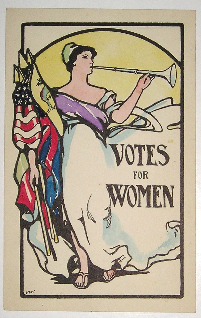 One Of The Most Attractive Of All American Suffrage Postcards This Was Probably Done In 1914 Suffrage Movement Vote Poster Suffragette