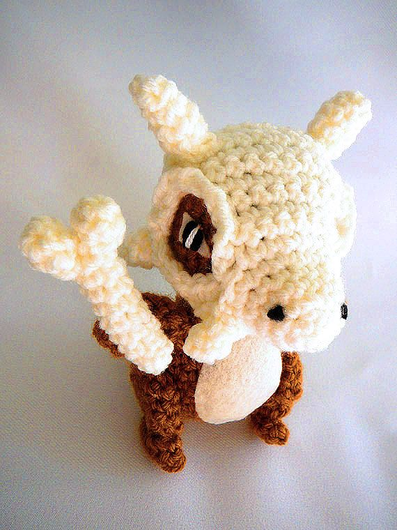 Pokemon Cubone Amigurumi - Made to Order - free Pokeball keychain ...