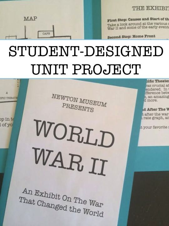 Students created World War II museum exhibit.  Students go big when they are given the freedom to create their project.