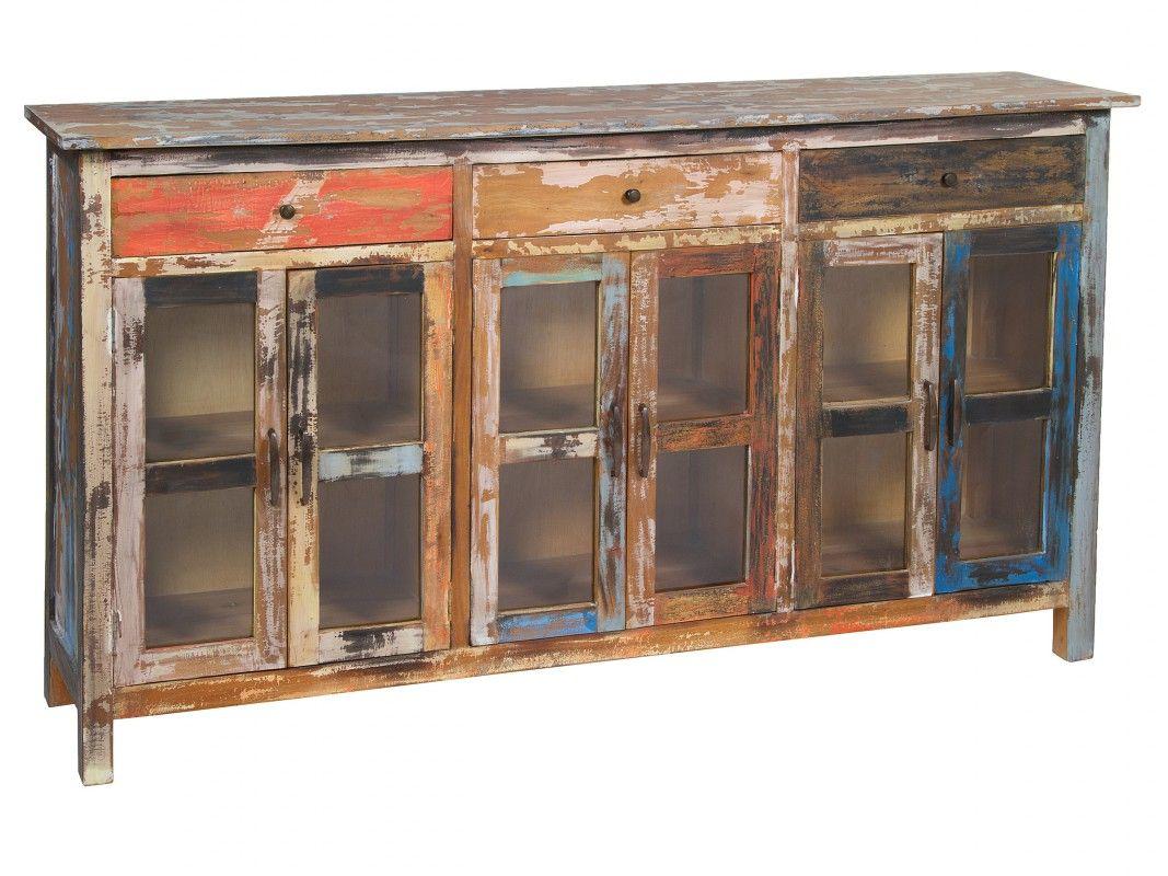 Aparador colores vintage 180 cm alacenas y aparadores for Comedor industrial buffet
