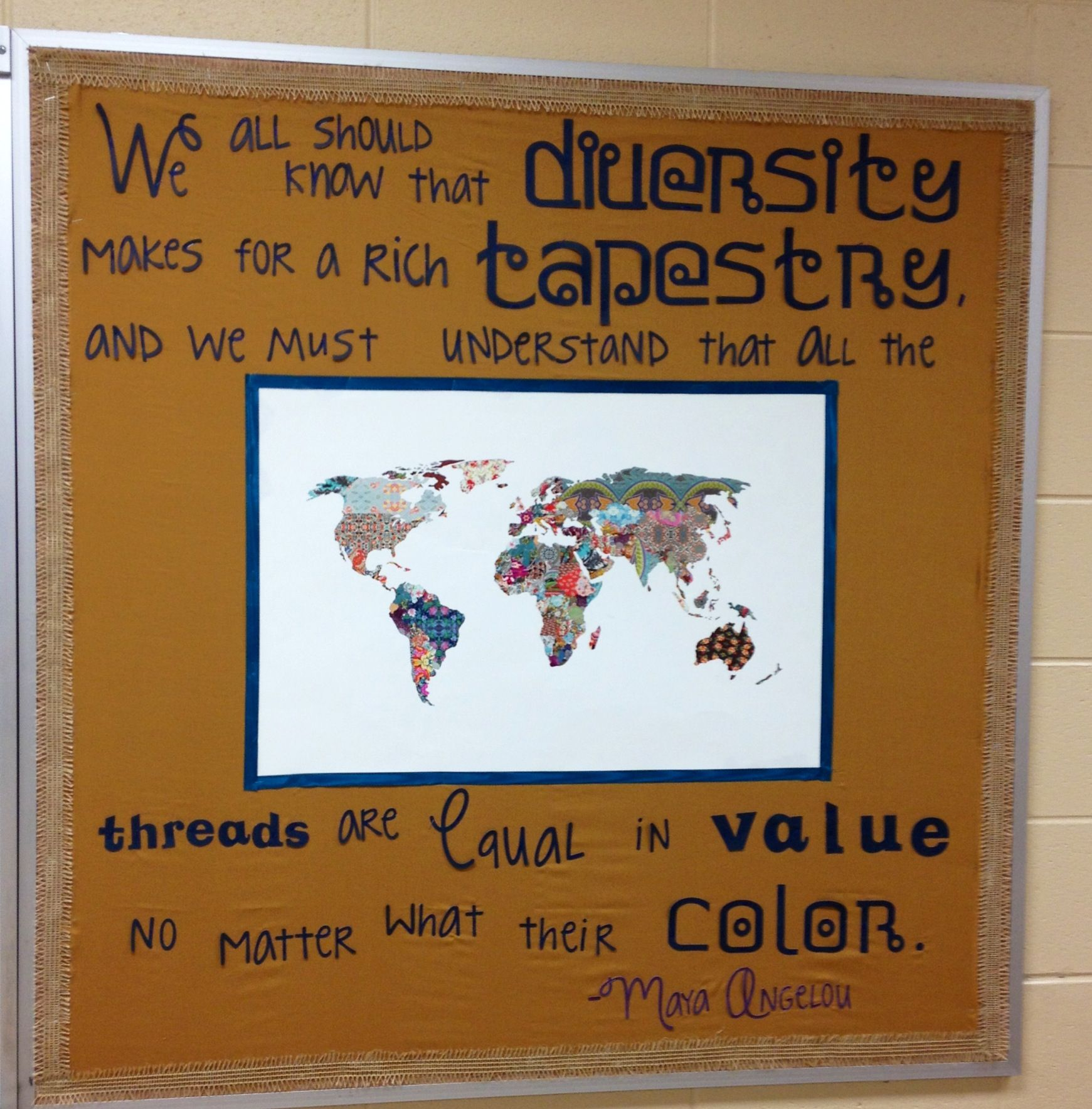 Maya Angelou Diversity Quote Bulletin Board For High