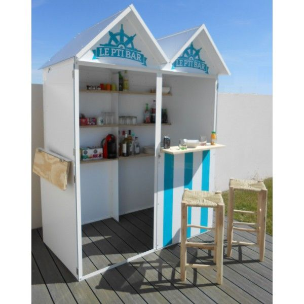 bar cabine de plage double en aluminium garage pinterest beach huts bar and html. Black Bedroom Furniture Sets. Home Design Ideas