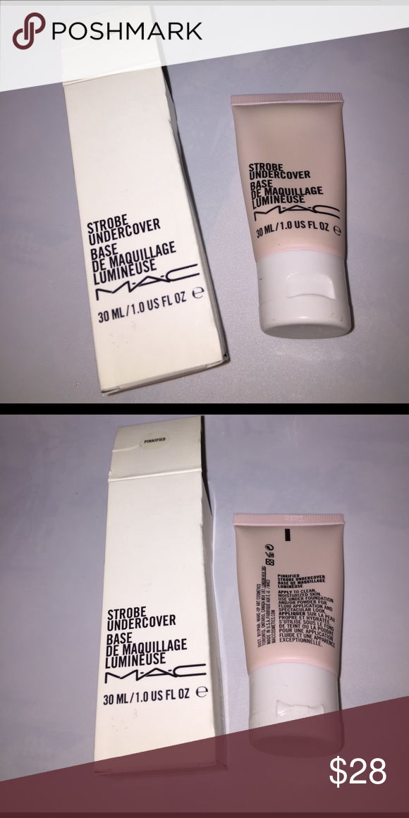 MAC BNIB Strobe Undercover Pinkified MAC BNIB Strobe Undercover Pinkified, new and never used. 1oz. MAC Cosmetics Makeup Face Primer