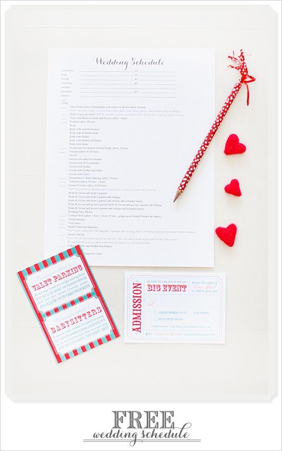 download your free wedding schedule pinterest wedding schedule