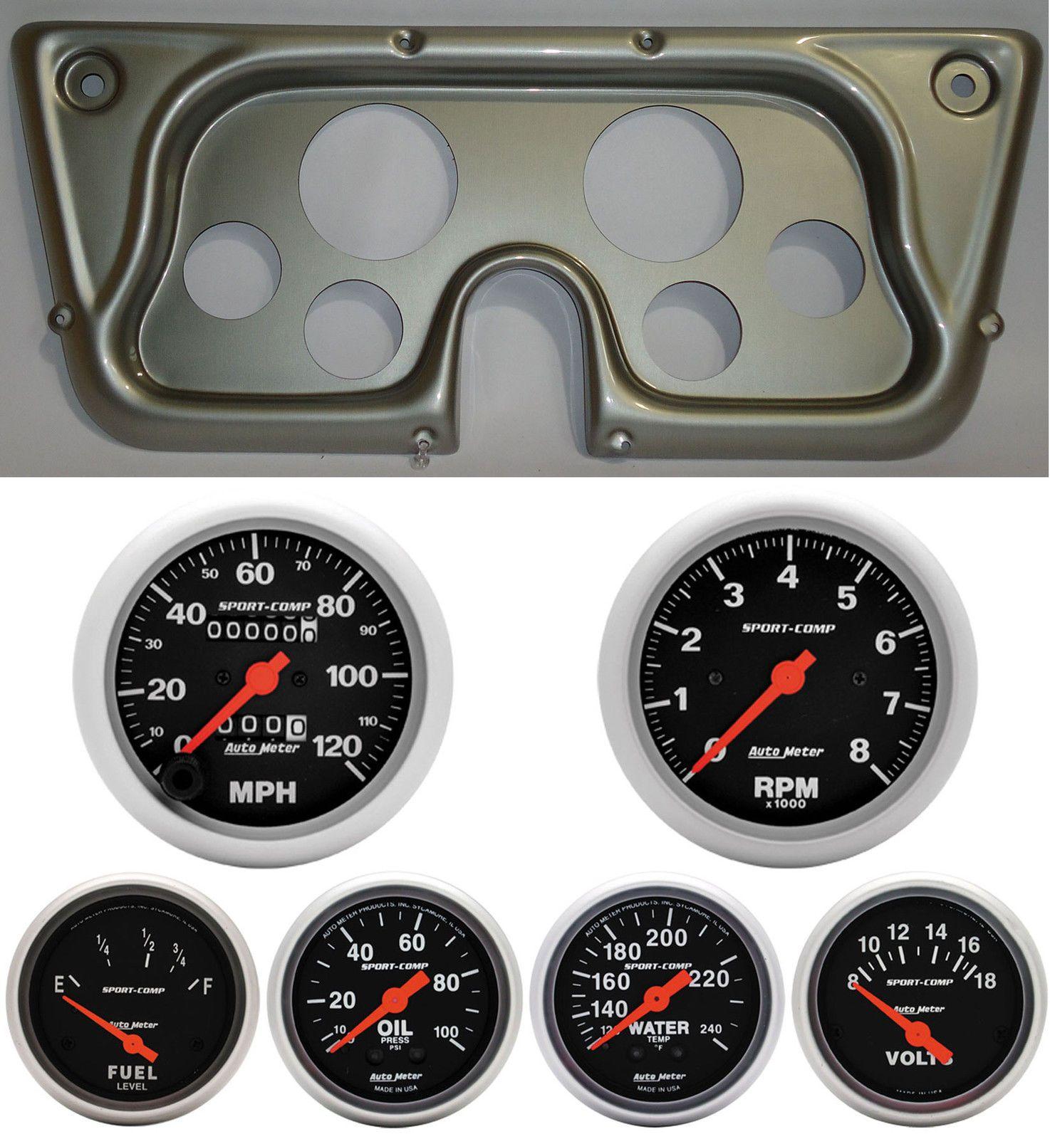 6772 Chevy Truck Silver Dash Carrier Panel w/ AM Sport