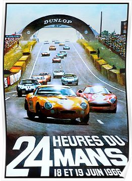 'DU MANS;Vintage Auto Racing Advertising Print' Poster by posterbobs