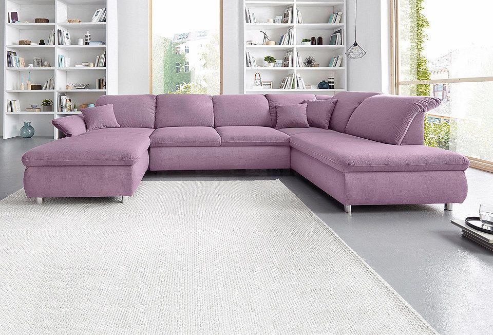 Places of Style Wohnlandschaft mit Armteilverstellung, wahlweise mit - hülsta möbel wohnzimmer