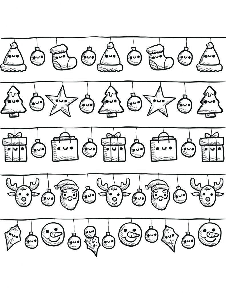 Assez banderoles de noël à dessiner gratuit | Bullet, Journal and Bujo XT75