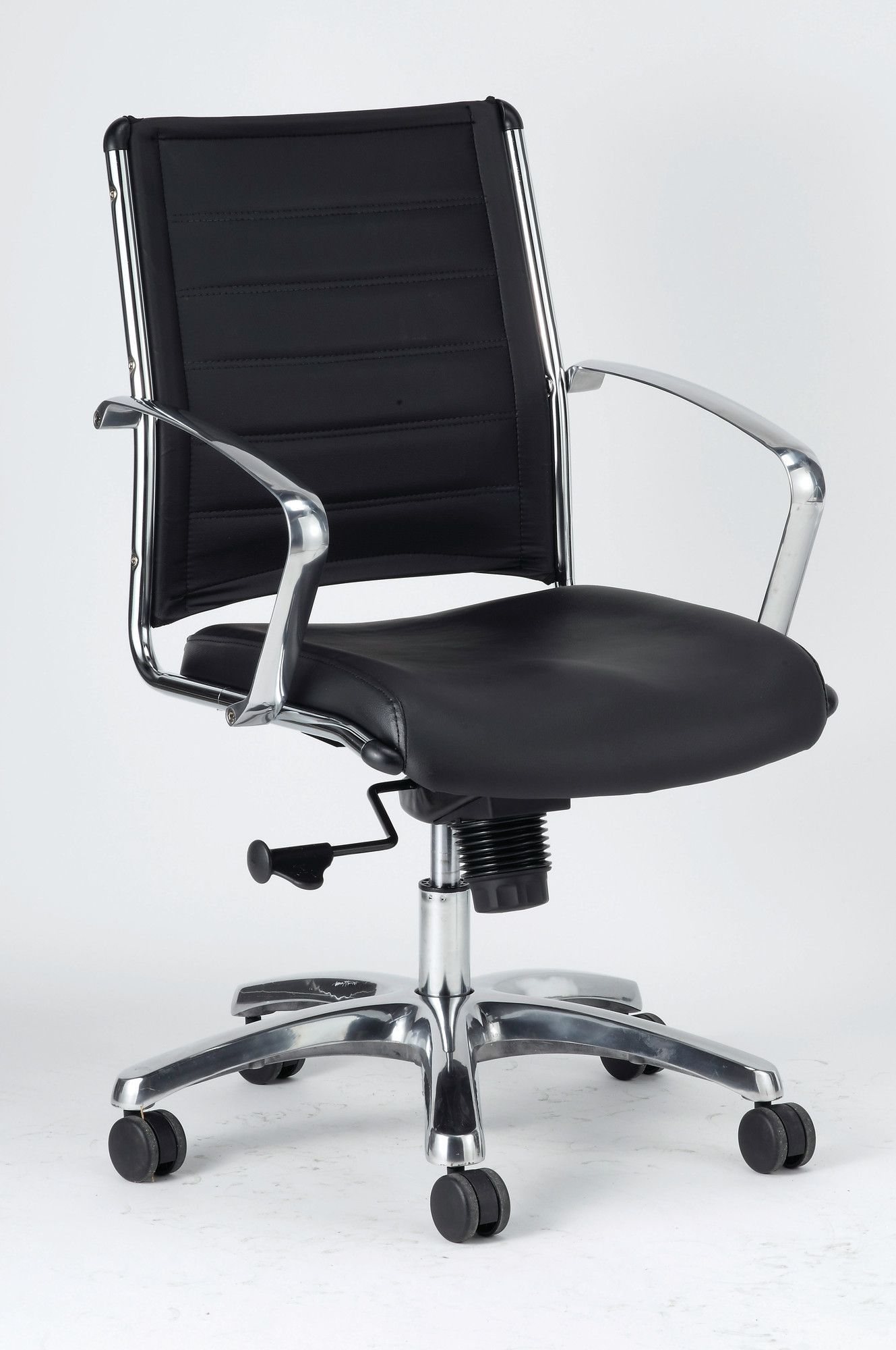 Office Chairs At Staples Europa Mid Back Leather Chair With Arms Products Chair