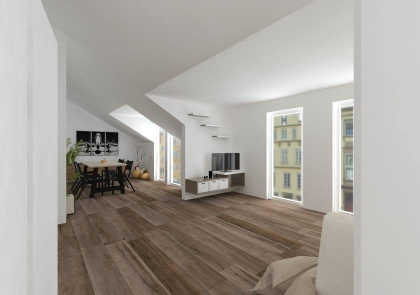 Wohnzimmer Dachgeschoss ~ Ae rixxon visualisierung einer wohnzimmer szene im