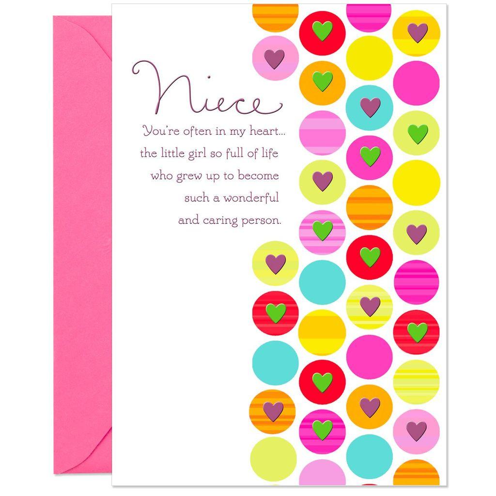 Often In My Heart Birthday Card For Niece Greeting Cards Hallmark Uncle Damon Birthday Cards For Niece Birthday Cards Birthday Greeting Cards