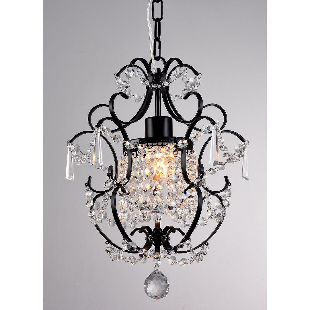small black crystal chandelier # 45