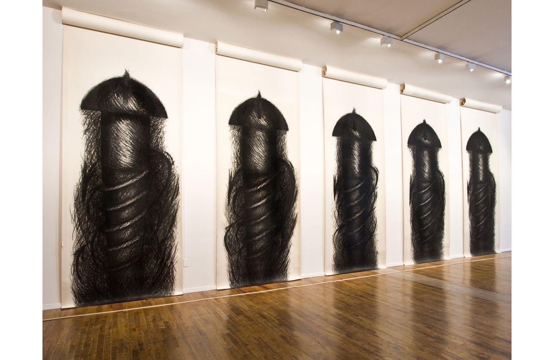 Judith Richter Nude judith bernstein, five panel vertical | feminist art