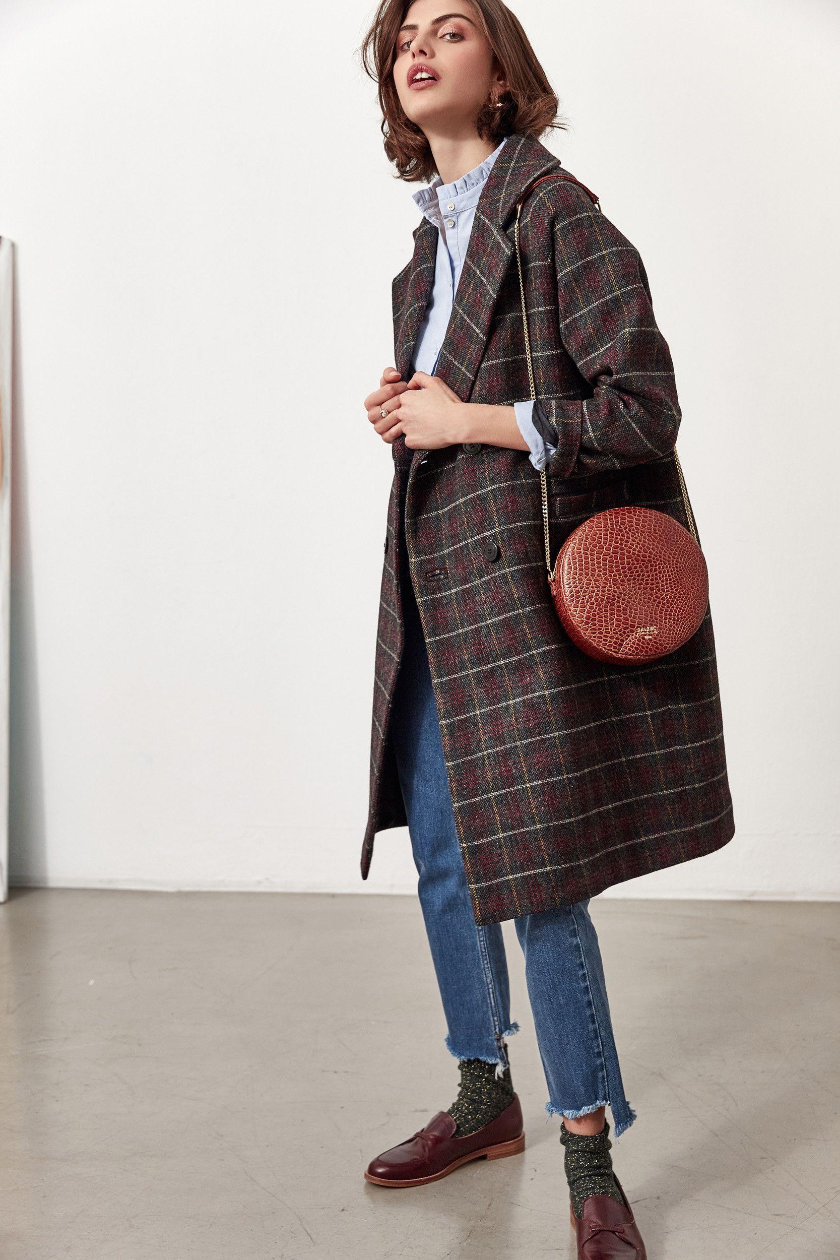 cf035d2fe Manteau Lenny gris à carreaux - Manteaux et vestes - Les Vêtements - Eshop