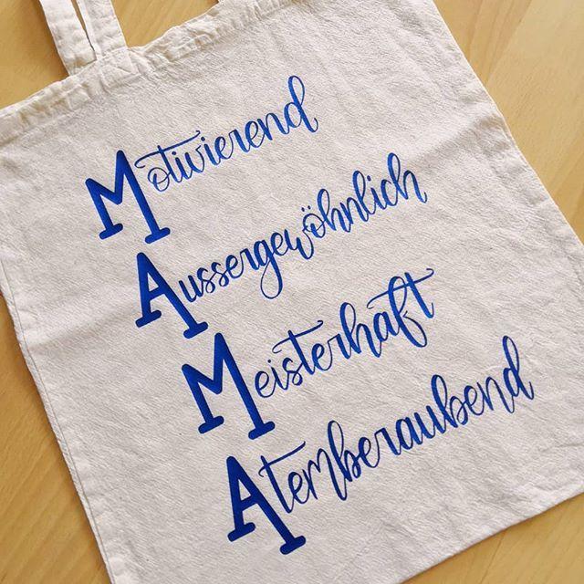 Geschenkidee zum Muttertag - Mama ... Handlettering welches ausgeplottet wurde  #handlettering #plotten #father