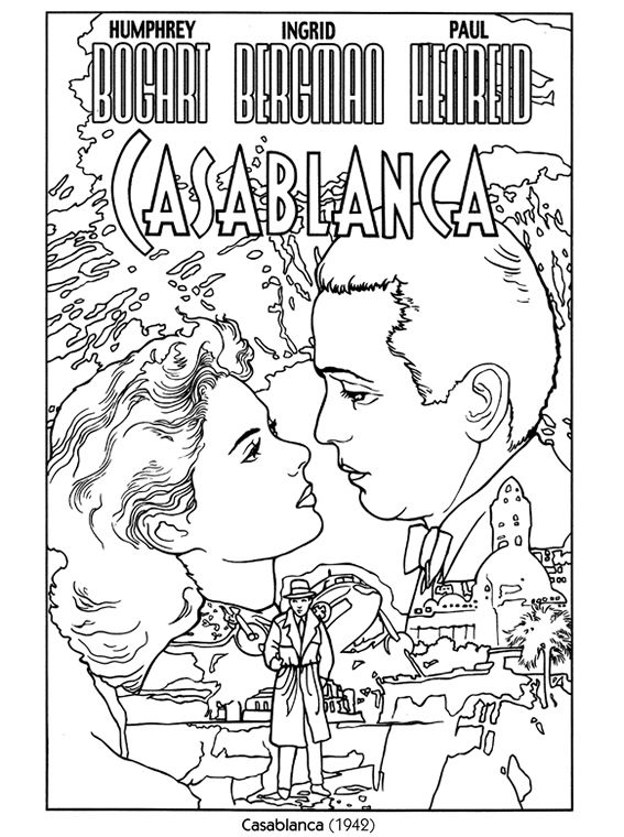 Casablanca, Color Your Own Poster, Dover Publications. A