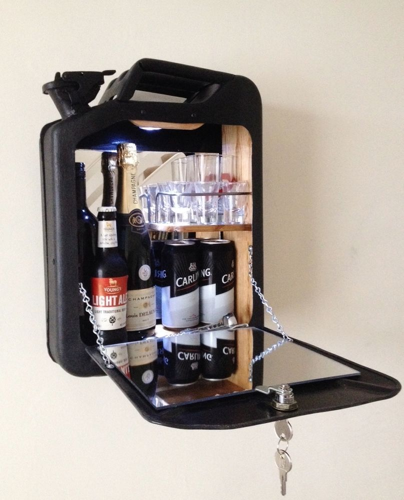 Jerry can minibar Gas can drinks cabinet mobile cocktail bar wine ...