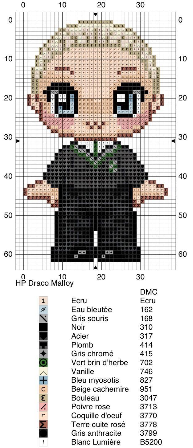 Draco Malfoy - Harry Potter pattern
