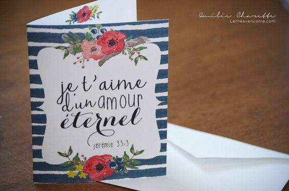 Je T Aime D Un Amour éternel Carte à Souhait Chrétienne