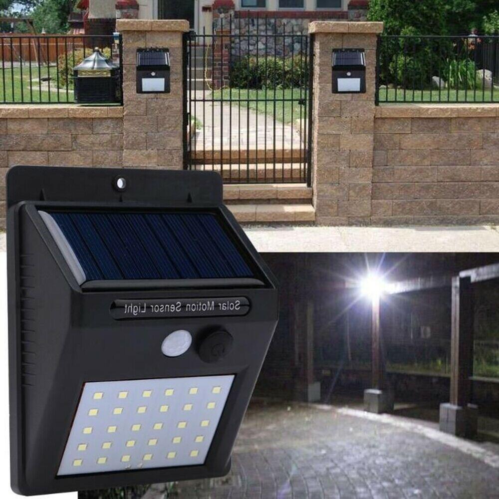 Led Solar Light Motion Sensor Outdoor Garden Lamp Decor Security Lights 4 Piece Unbranded Modern Solar Motion Lights Solar Powered Led Lights Solar Lights