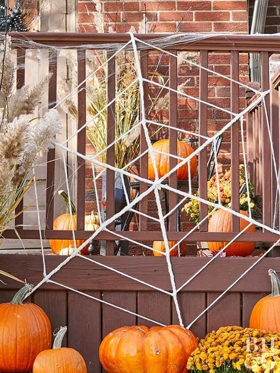 Braided Spiderweb halloween Pinterest Halloween porch, Easy - fun and easy halloween decorations