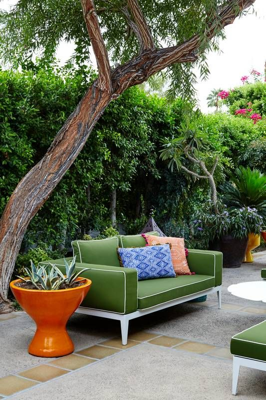 Get the Look: The Suitest Room at the Parker Palm Springs Patio and Outdoor  Furniture - Jonathan Adler Makeover At The Parker Palm Springs Backyard