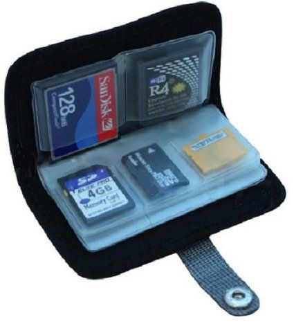 Amazon com: Memory Card Carrying Case - Black / Wallet