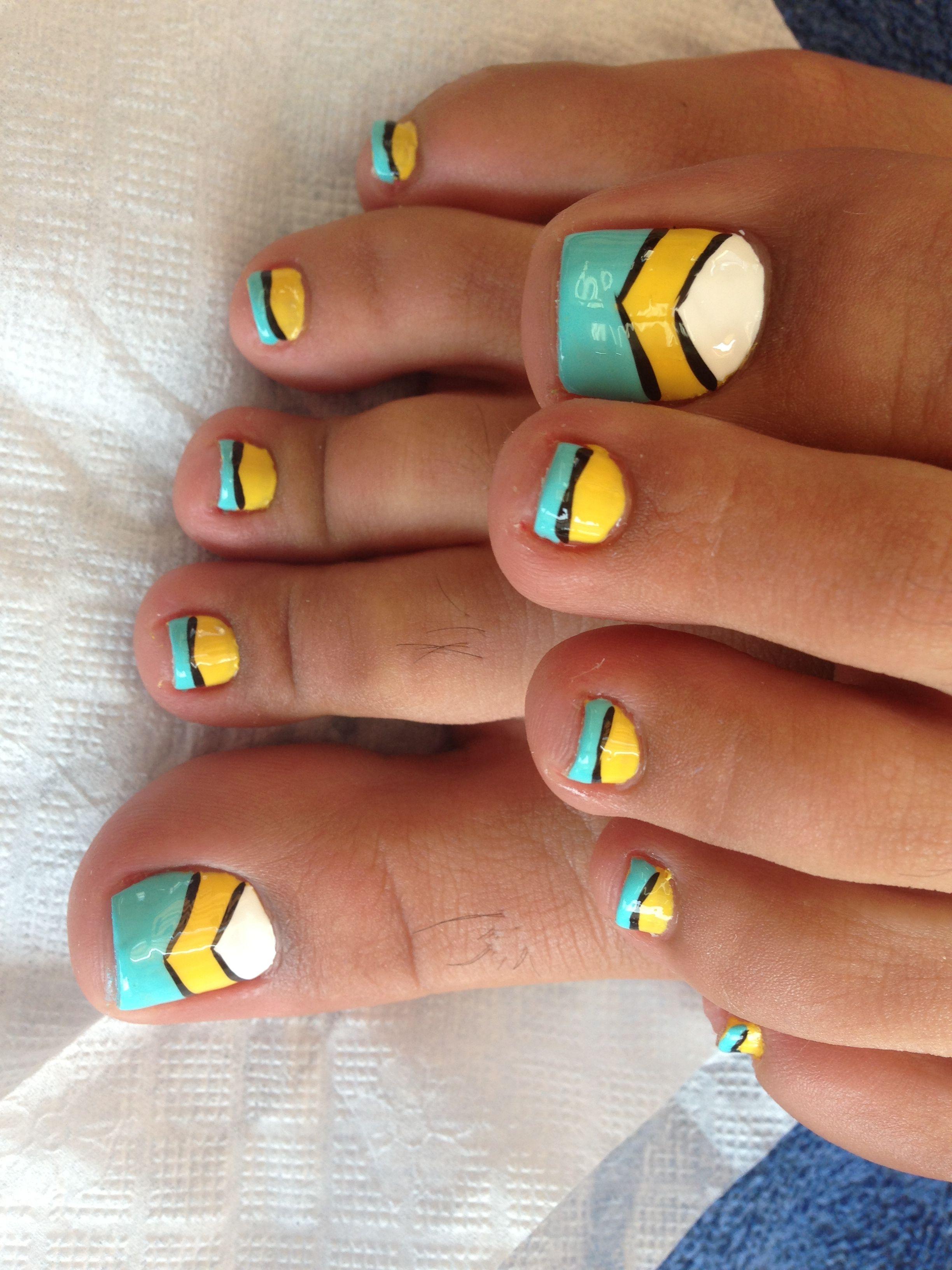 Pin By Kayla Killian On Hair Beauty Yellow Toe Nails Toe Nail Designs Pedicure Nail Art