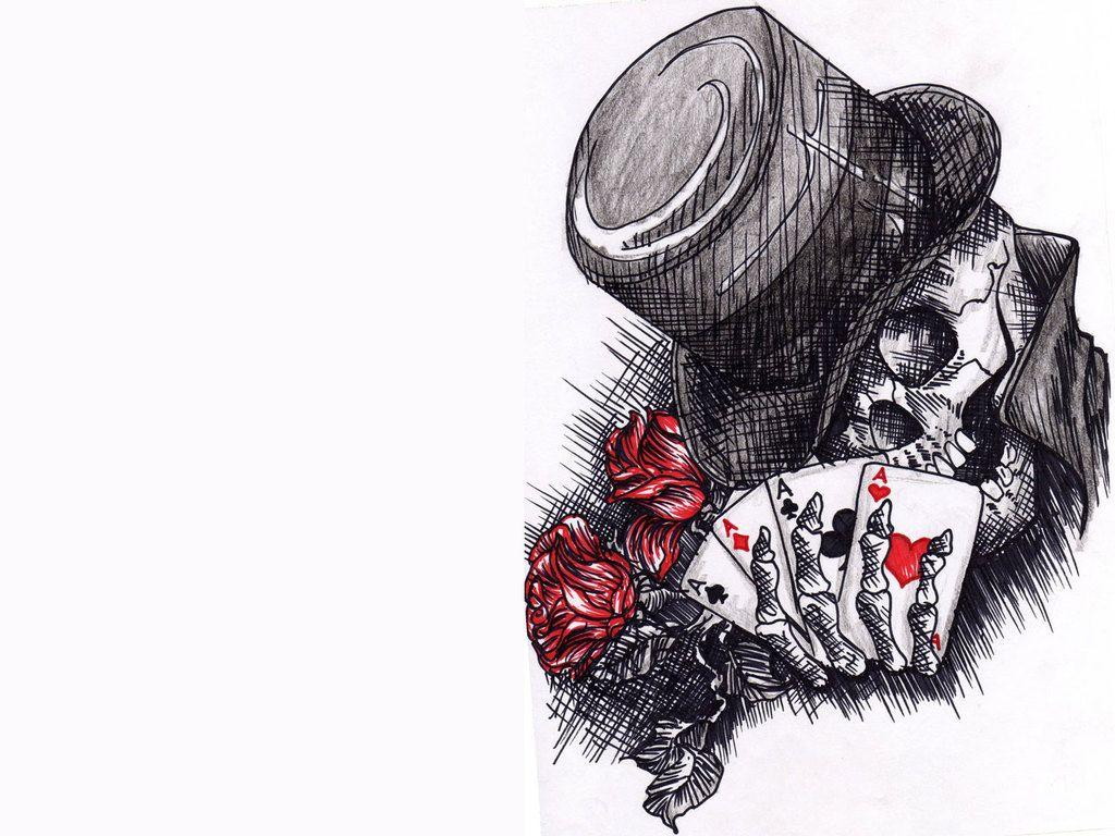 skull joker tattoo art wallpaper hd images desktop free
