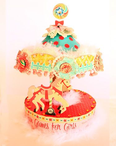 'Round the Carousel made from the Emma's Shoppe Collection from Crate Paper.