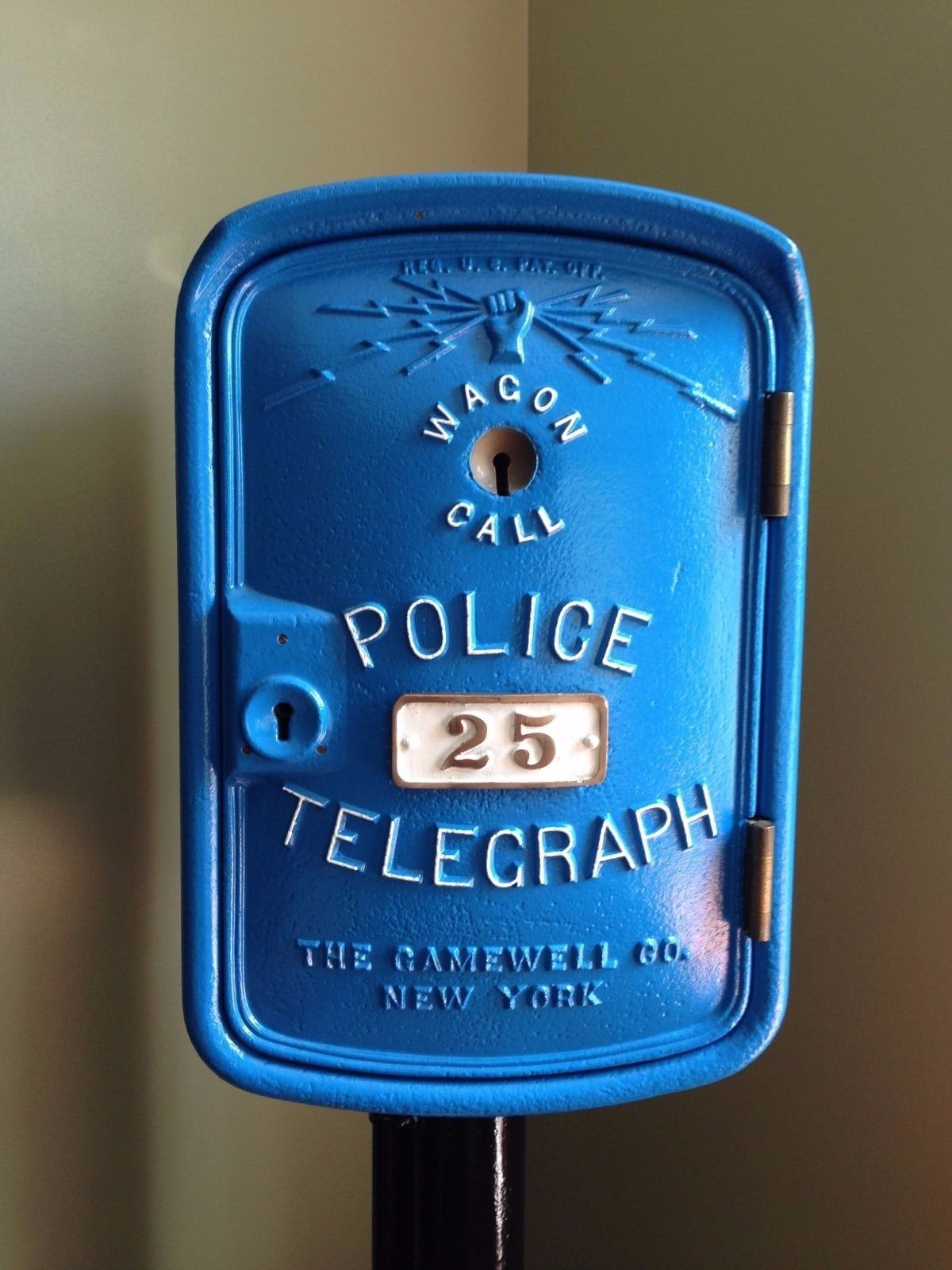Gamewell Wagon Call Police Fire Alarm Telegraph